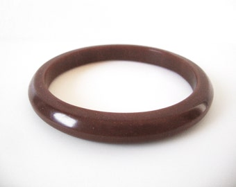 Vintage Caramel Brown Bakelite Bangle Bracelet