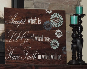 Large Reclaim Wood Sign with Inspirational Quote on Pallet Sign Pallet Art Shabby Chic Rustic Chic Farmhouse Home Decor Pallet Wall Art