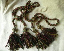Antique pair of french passementerie tassel tie backs 1890