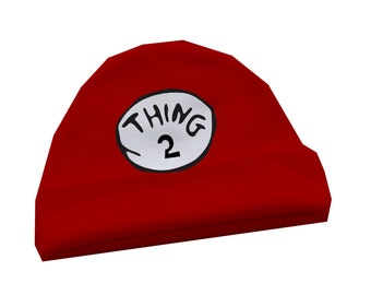 "Personalized Baby Beanie, ""Thing 2""- Baby cap"