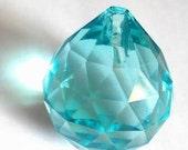 1 Light Aqua Chandelier Crystal Ball 20mm Antique Green