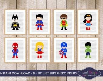 Superhero Wall Art superhero wall art | etsy