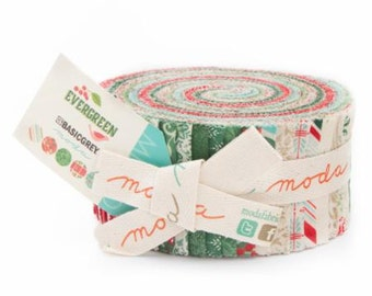 Evergreen Jelly Roll by Basic Grey for Moda