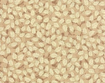 Let It Glow Metallics, Cream Holly by Sentimental Studios for Moda 33005 17M