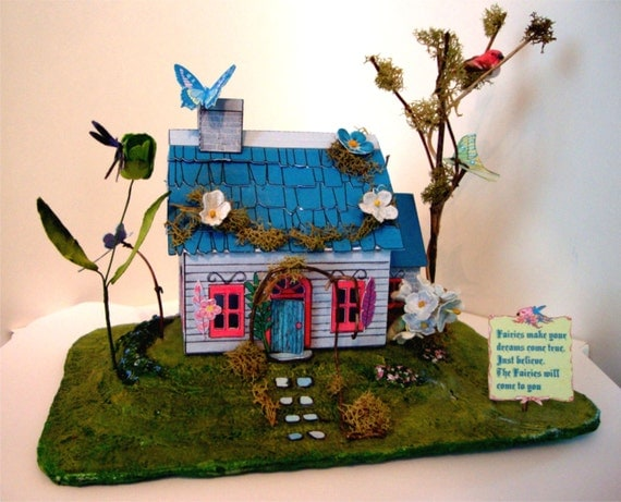 SVG Files Fairy House Miniature DollhouseEasy. Printable Box