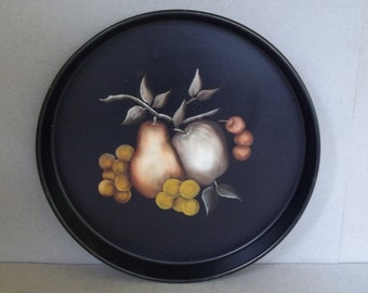 Vintage Toleware Tray - Vintage Hand Painted Tole Tray - Vintage Tole Tray - Home Decor