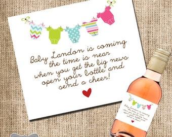 hosting baby shower mini wine label shower hostess gift baby shower