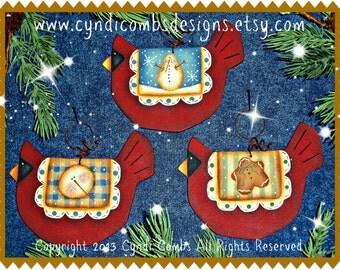 CC149 - Wynter Birdies Ornaments - Painting E Pattern by Cyndi Combs