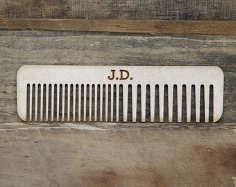 Personalized Handmade Wood Hair Comb - Baltic Birch Plywood