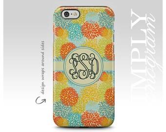 iPhone 8 Case, iPhone 7 Case, iPhone 8 Plus Case, Samsung Galaxy Case, Galaxy S7 Case, iPhone X Case, Galaxy S8 Case, Floral Monogram