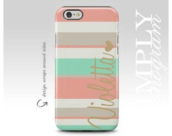 iPhone 7 Plus Case, iPhone 8 Plus Case, iPhone 7 Case, iPhone 8 Case, Samsung Galaxy S7 Case, Galaxy S8 Case, Personalized Stripes