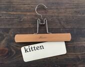 vintage flash card • kitten | Dick and Jane flashcard