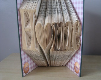 Hand Folded and Decorated 'Home' Book Keepsake **Free P&P**