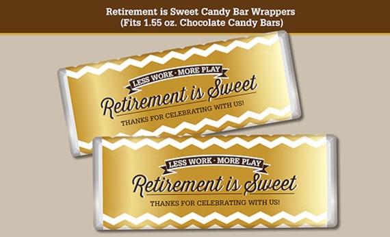 Retirement Candy Bar Wrapper, Printable Digital File, Fits ...