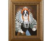 Dog Magnet, Queen of Boston, Boston Terrier, Refrigerator Magnet