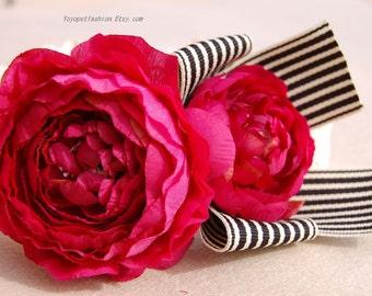 Cute gift for dog!dog collar,wedding dog collar.Birthday Party dog collar. Rose red flower collar for dog. handmade girl dog collar