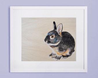 Bunny rabbit illustration - print your own