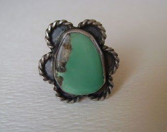 fabulous flower, a turquoise ring, size 7.25