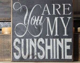 wooden sign, wall art, you are my sunshine, subway art, wall decor