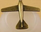 12pcs DIY Jewelry Accessories Antique Bronze Aircraft Plane Charms Pendant