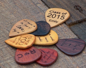 Personalized Guitar Pick with Leather Case TOP SELLER