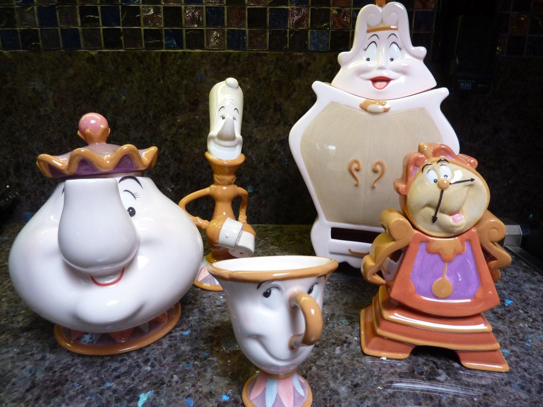 Beauty And The Beast Disney Tea Set 10th Anniversary Edition