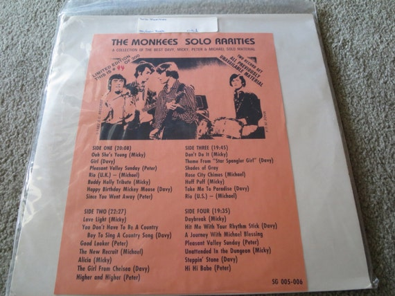 David Jones Personal Collection Record Album - Limited Edition of The Monkees Solo Rarities