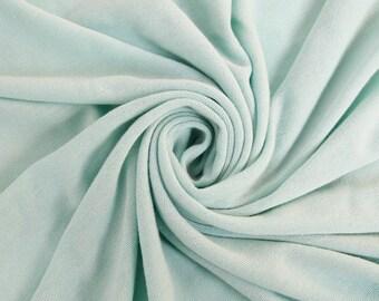 Stretch Jersey with Merino-like Wool Brush Seafoam Pale Hacci Brush Fabric Style 495