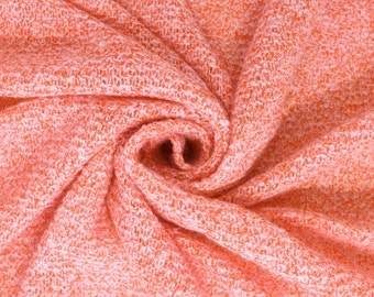 Coral Twill Two Tone Knit Sweater Fabric by the yard - 1 Yard Style 6500