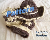 PDF Baby Star Cowboy Hat and Boots PATTERN - Baby Cowboy Hat and Boots Pattern - Western Hat and Boots Pattern - by JoJosBootique