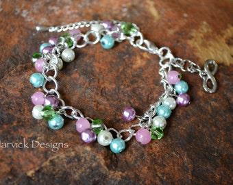 Pastel Glass Bead Bracelet