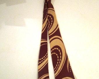 Vintage Bronze and Cream Neck Tie, Van Heusen, ca 1940s, 1950s
