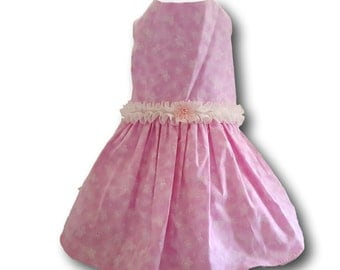 Dog Dress,  Dog Clothing, Dog Wedding Dress, Pet Clothing, Pet Dress, Dog Attire, Pink Butterflies