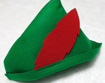 Baby / Toddler Peter Pan / Robin Hood Felt Hat