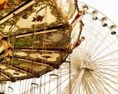 Amusement Park Ferris Wheel Swings -  Photography - Ocean City, NJ -  8x10