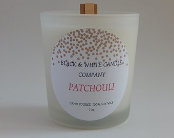 Patchuli scented:  7 oz. Soy candle, long lasting scent, gifts for her, sox wax, coconut/soy wax blend, organic, clean pure fresh