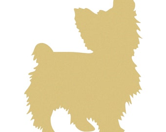 YORKIE Unfinished Wooden Craft Shape, Do-It-Yourself