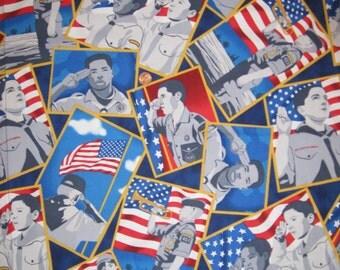 "Scout print fabric -B /  half yard x 43"""