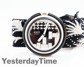Large Minitz Pop Swatch 1980's Ladies Quartz Watch