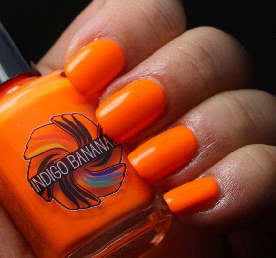 LiLoo (LithiumLoo) - orange neon creme - nail polish by Indigo Bananas
