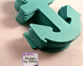 20 Teal or Aqua anchors, nautical, baby shower decor, wedding decor, card making, party table scatter, scrap booking, crafting