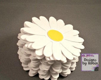 20 Daisy Flower Paper Decorations - Wildlife Confetti - Woodland  Daisy Decor - Birthday Daisy's - Bridal Shower - Wedding Decor