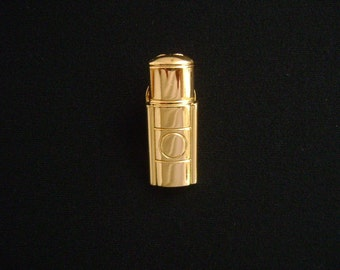 Vintage YSL Yves Saint Laurent Paris Made in France Adorable So Cute Miniature Opium Perfume Bottle Style Small Lapel Pin Brooch Gold Plated