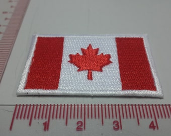 Canada Flag Iron on patch - Flag Applique Embroidered Iron on Patch