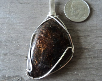Astrophylite and Silver Pendant