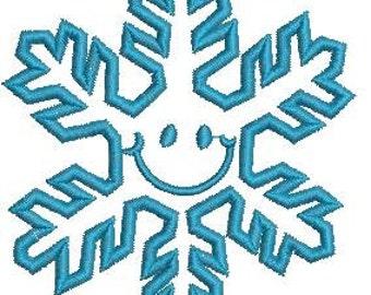 SNOWFLAKE , three sizes  - Machine Embroidery Design