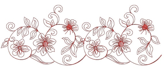 Quilting Border Embroidery Designs : Border Embroidery Pattern festoon Machine Embroidery