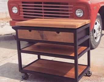 Industrial Modern Cart / Island Cart