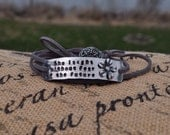 She laughs without fear of the future wrap bracelet