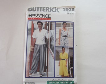 Butterick 3935 Vintage 1980s Women's Top and Pants Uncut Sewing Pattern Size 12-14-16, 1980s Uncut Pattern Size 12-14-16, Butterick 3935